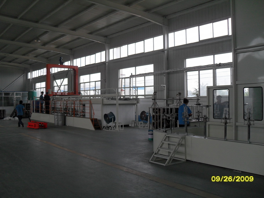 Coating line special for auto brake disc